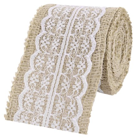 Cleopatra Dress Diy (Wedding Linen Dress Chair Cake Box Decor DIY Sewing Ribbon Roll White 2.3)