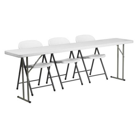 Flash Furniture X Plastic Folding Training Table With - 18 x 96 training table