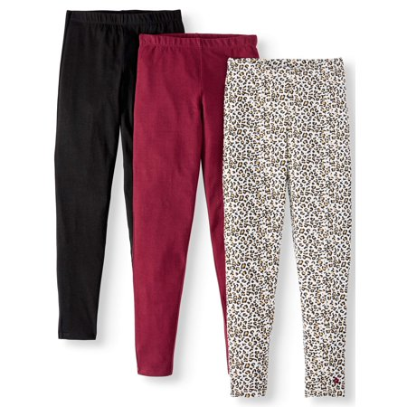 Hot Girl With Leggings (Limited Too Printed and Solid Leggings, 3-Pack (Little Girls & Big)