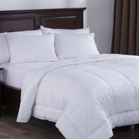 Cotton Duvet Comforter - Puredown White Down Alternative Comforter Duvet Insert with 300 Thread Count Cotton Shell