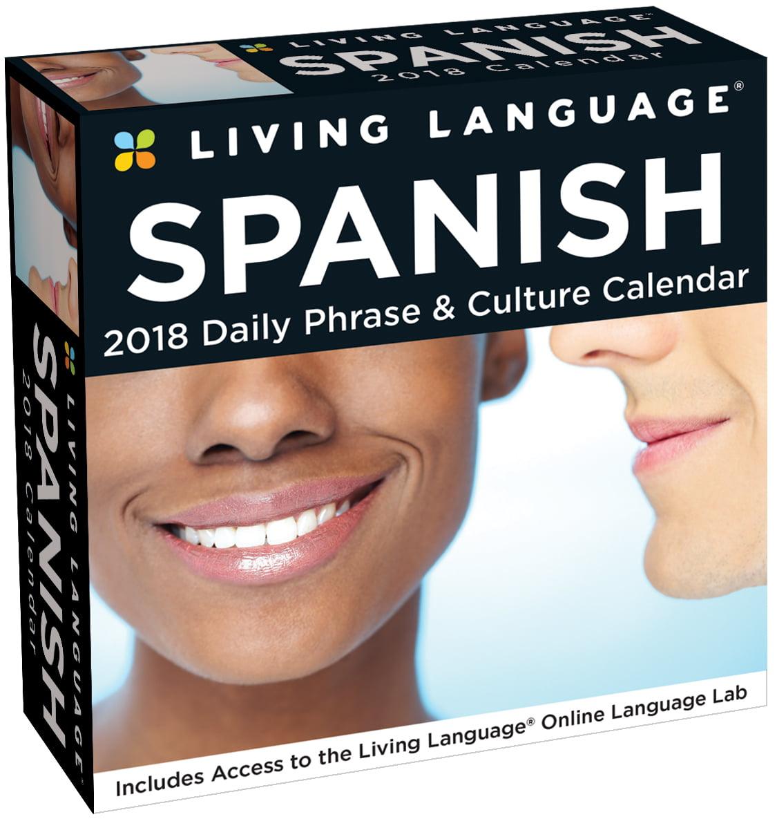 Andrews McMeel Publishing Living Language Spanish 2018 Box Calendar