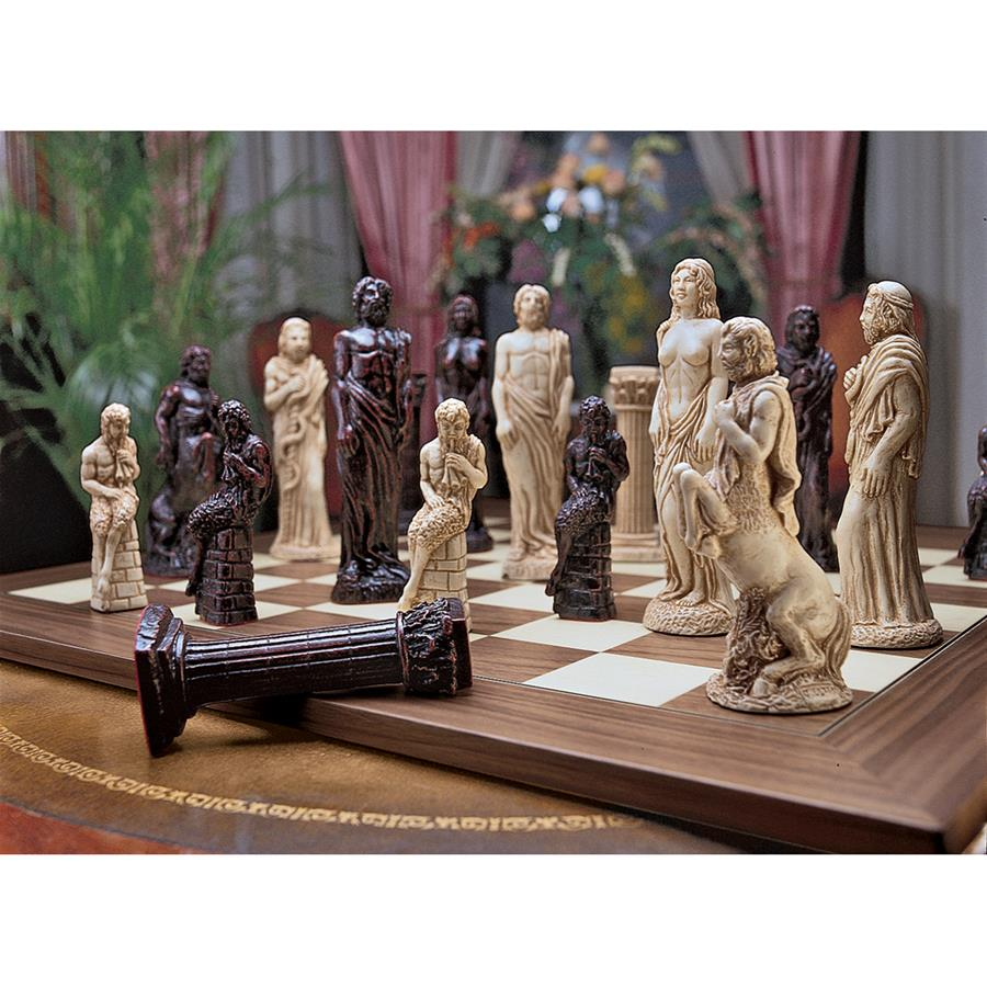 Gods of Greek Mythology Chess Set: Pieces Only by Design Toscano