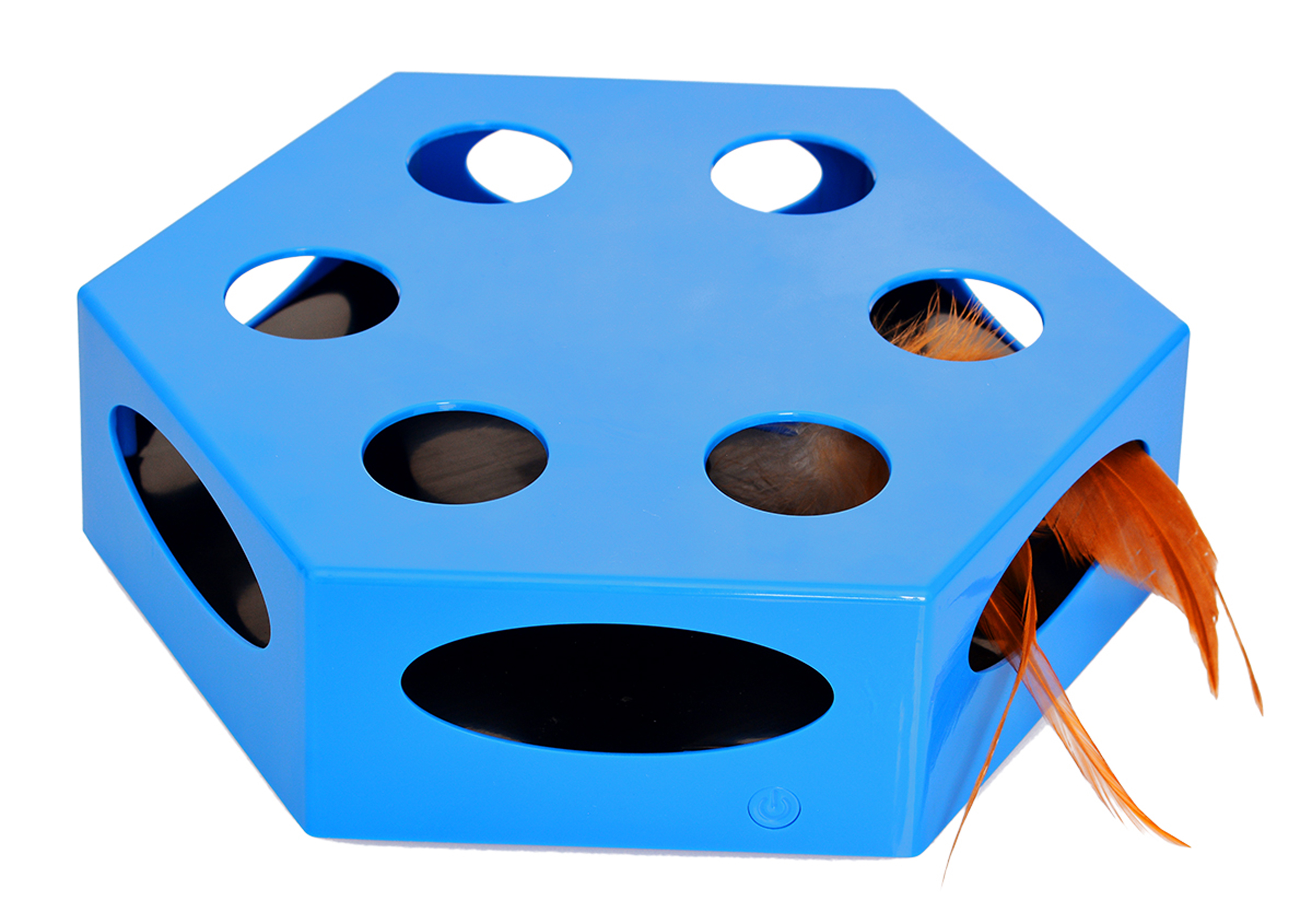 Iconic Pet Knock 'n' Roll Interactive Spinning Cat Toy by Iconic Pet
