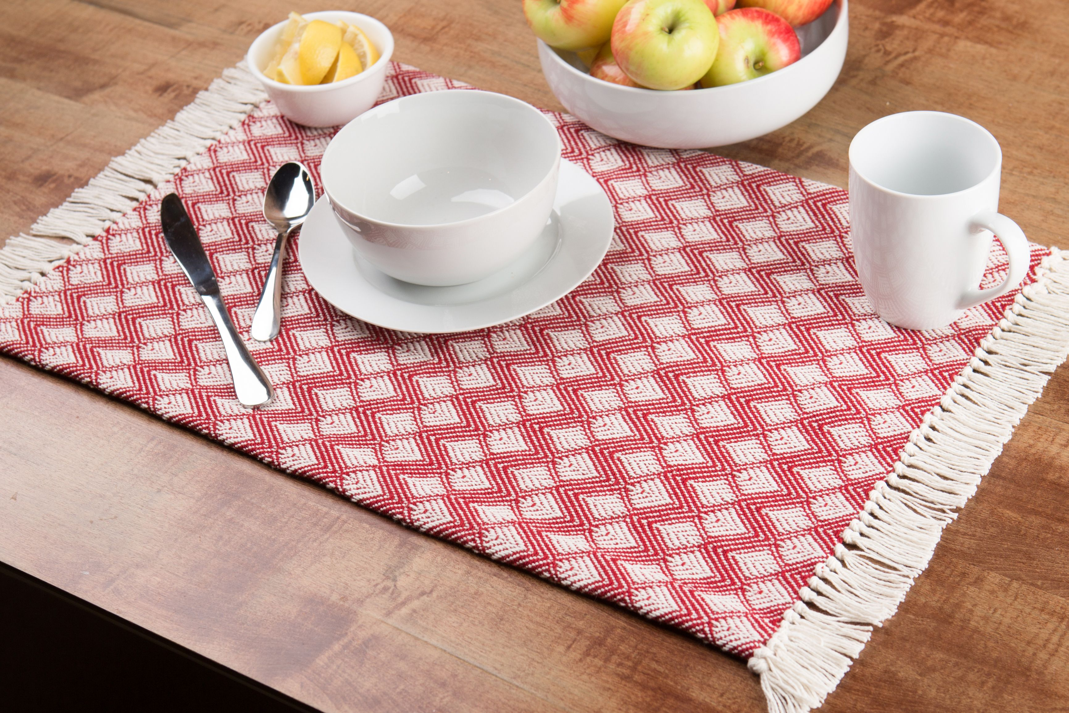 Set of 4 Fashion Placemats Durable Chef// Baker Pattern Ease Care Wipe Clean Foam Backing Table Place Mat Set 12 X 18 Better Home