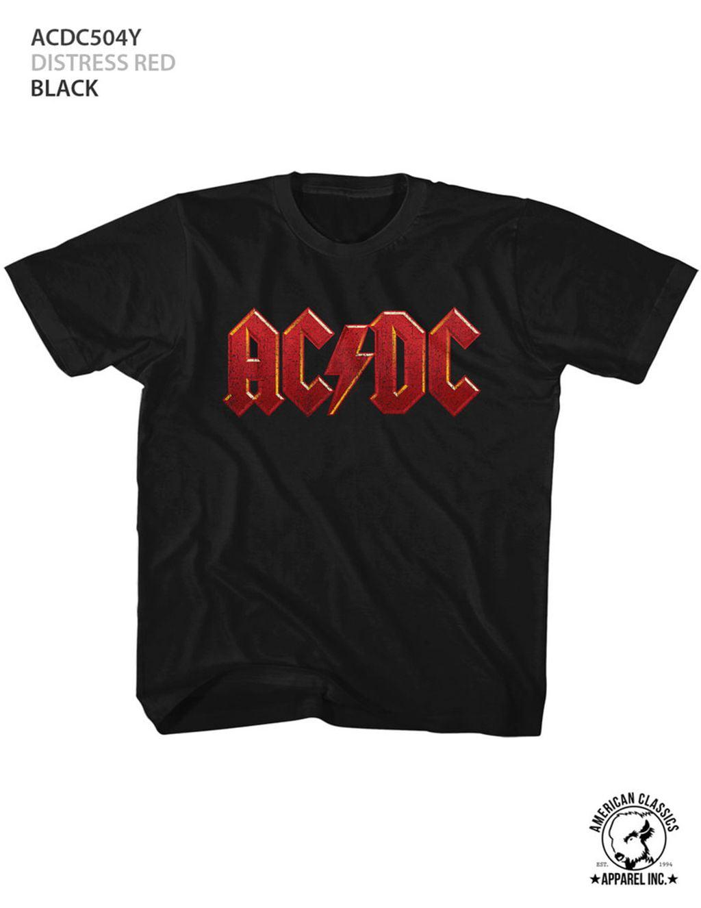 American Classics ACDC DISTRESS RED Black Child Unisex T-Shirt
