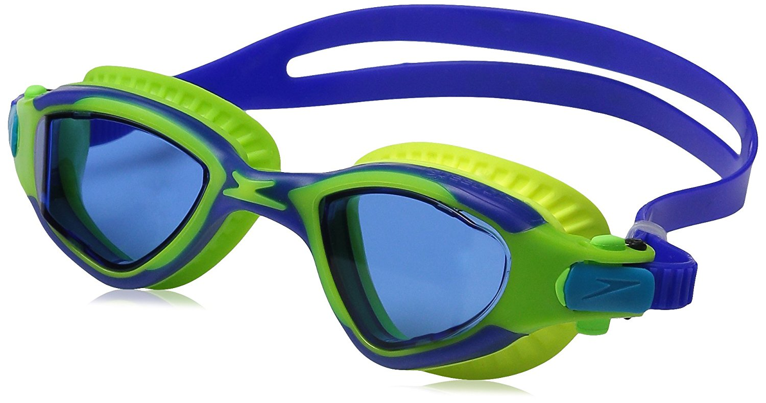 Speedo Junior MDR 2.4 Elastomeric Goggle Kids Fitness Swim Goggle Blue by Speedo