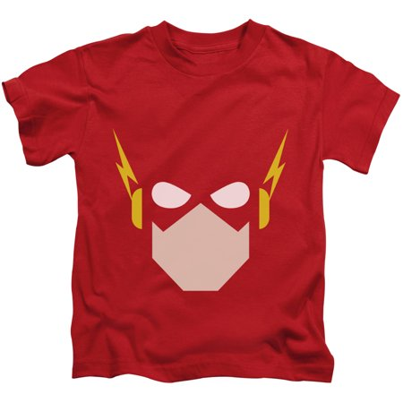 DC Comics Justice League The Flash Head Little Boys Juvy Shirt Red