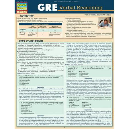 GRE - Verbal Reasoning