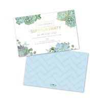 Personalized Watercolor Succulents Party Invitations