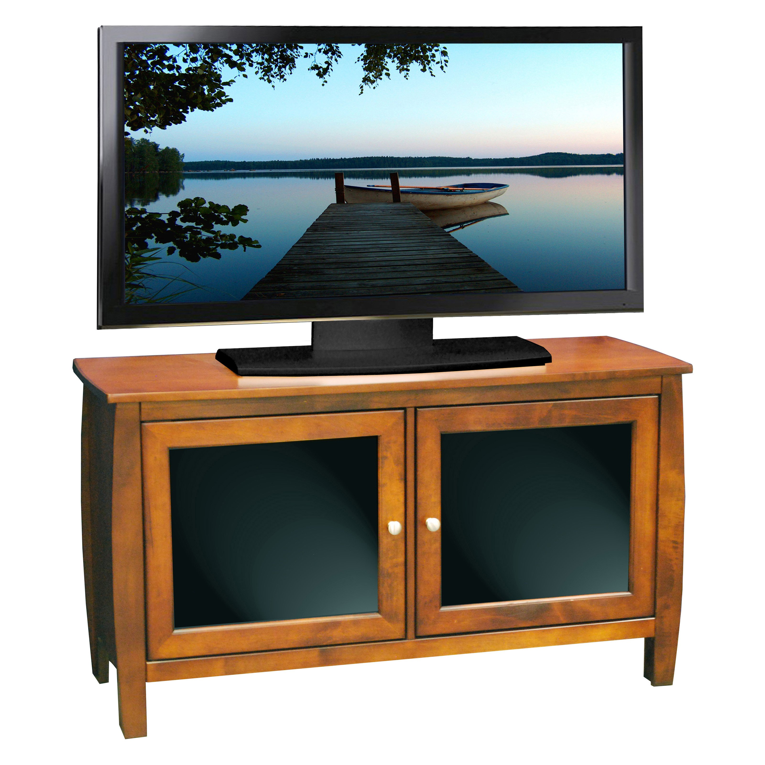 Legends Curve 45 in. TV Console - Spiced Rum