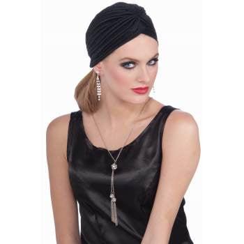 VINTAGE HOLLYWOOD TURBAN-BLACK - Hollywood Actress Costumes