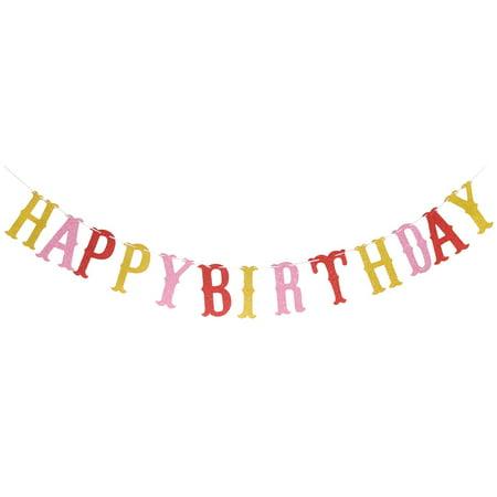 HAPPY BIRTHDAY Letter Design Party Decor Photo Prop Banner Multicolor Set - Happy Birthday Decor