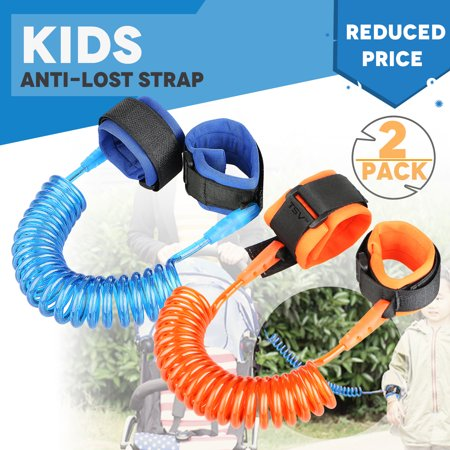 TSV Anti Lost Wrist Link for Child & Babies Toddler Safety, Harnesses & Leashes Walking Hand Belt Straps (Blue +