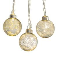 10ct Belham Living String Lights, 18 ft, Mercury Glass Gold
