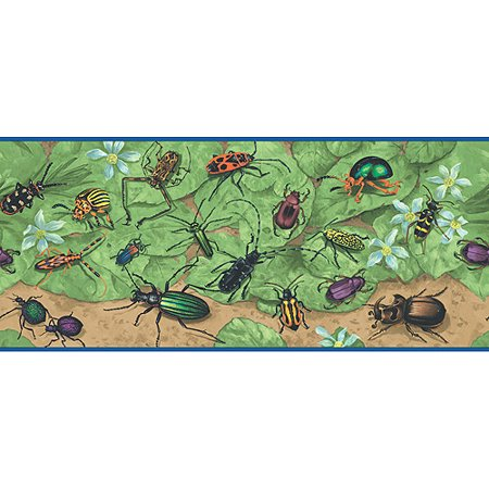 blue mountain insect wallpaper border