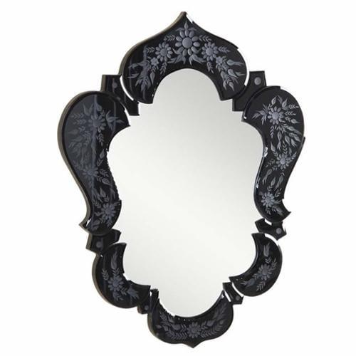 "Elegant Lighting Venetian 21"" Decorative Mirror in Black"