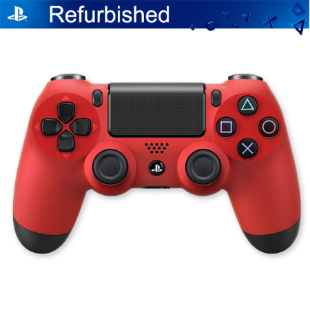 Dualshock 4 Controller PS4, Red Sony Playstation 4 (Refurbished) ()