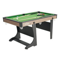 "Airzone 60"" Folding Pool Table with Accessories, Green Cloth"