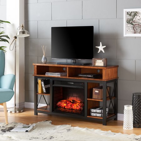 Elffyre Infrared Electric Fireplace TV/Media Stand, for TV's up to 50