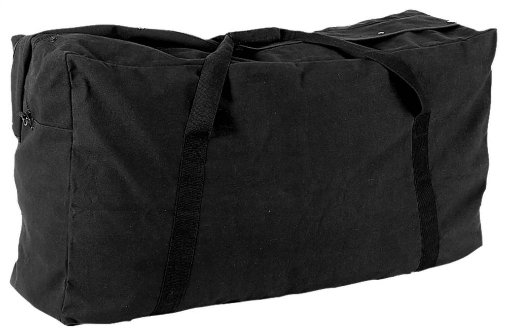 Oversized Zippered Duffle Bag in Black by Champion Sports