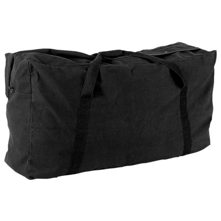 Oversized Zippered Duffle Bag In Black
