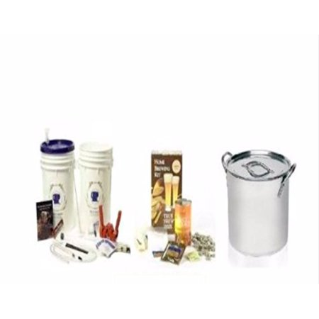 Complete Brew Starter Kit With Kettle & Ingredient Kit For Homebrewing Beer M...