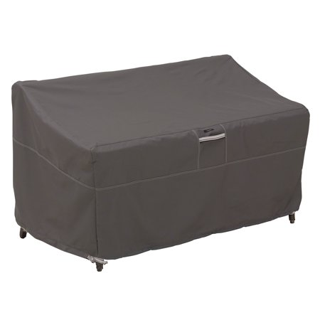 Classic Accessories Ravenna Small Sofa/Loveseat Patio Furniture Storage Cover, Fits up to 58