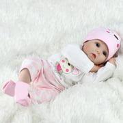 "22"" Lifelike Newborn Silicone Vinyl Reborn Girl Baby Dolls Handmade Full Body Christmas Gift Soft"
