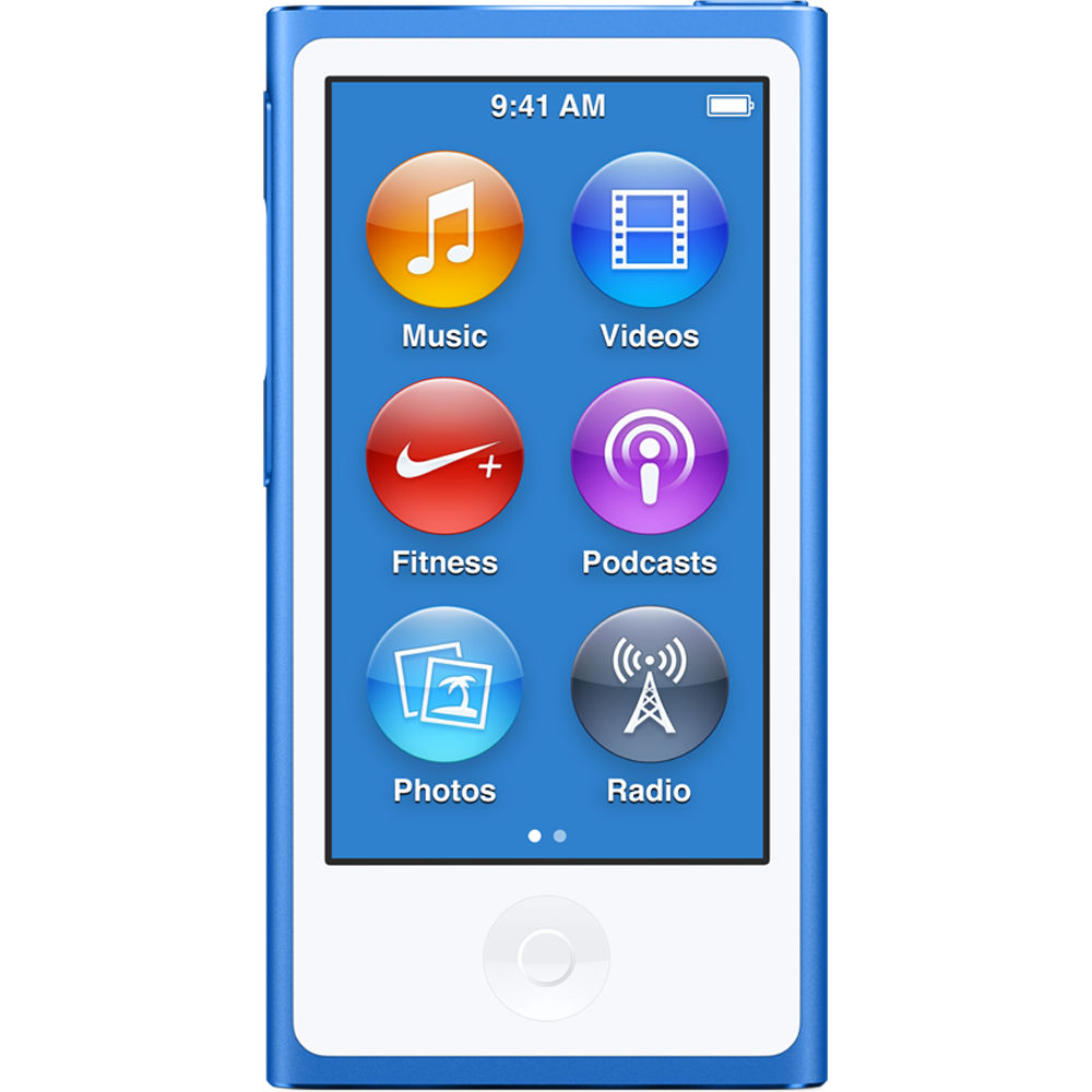 Apple iPod Nano 7th Generation 16GB New Blue, Pre-Owned, ...
