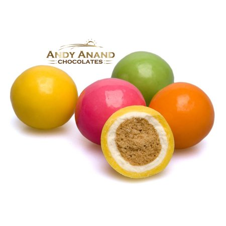 Andy Anand Belgian Chocolate Ice Cream Sundae Malt Balls, Gift Boxed & Greeting Card Delicious-Yummy- Birthday, Valentine Anniversary Christmas Holiday Mothers Fathers Day, Wedding, Get well 1 lbs ()