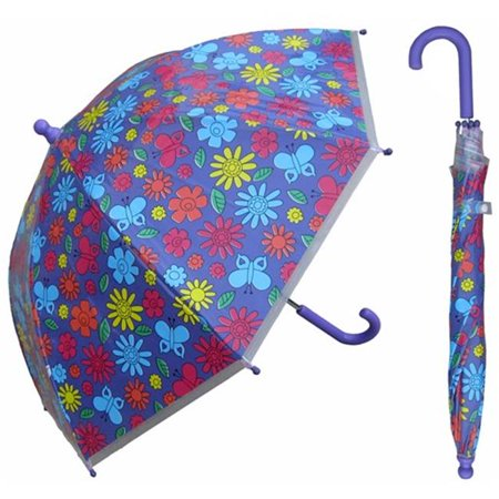w107chfloral 32 in. childrens floral print plastic canopy umbrella, 3 piece