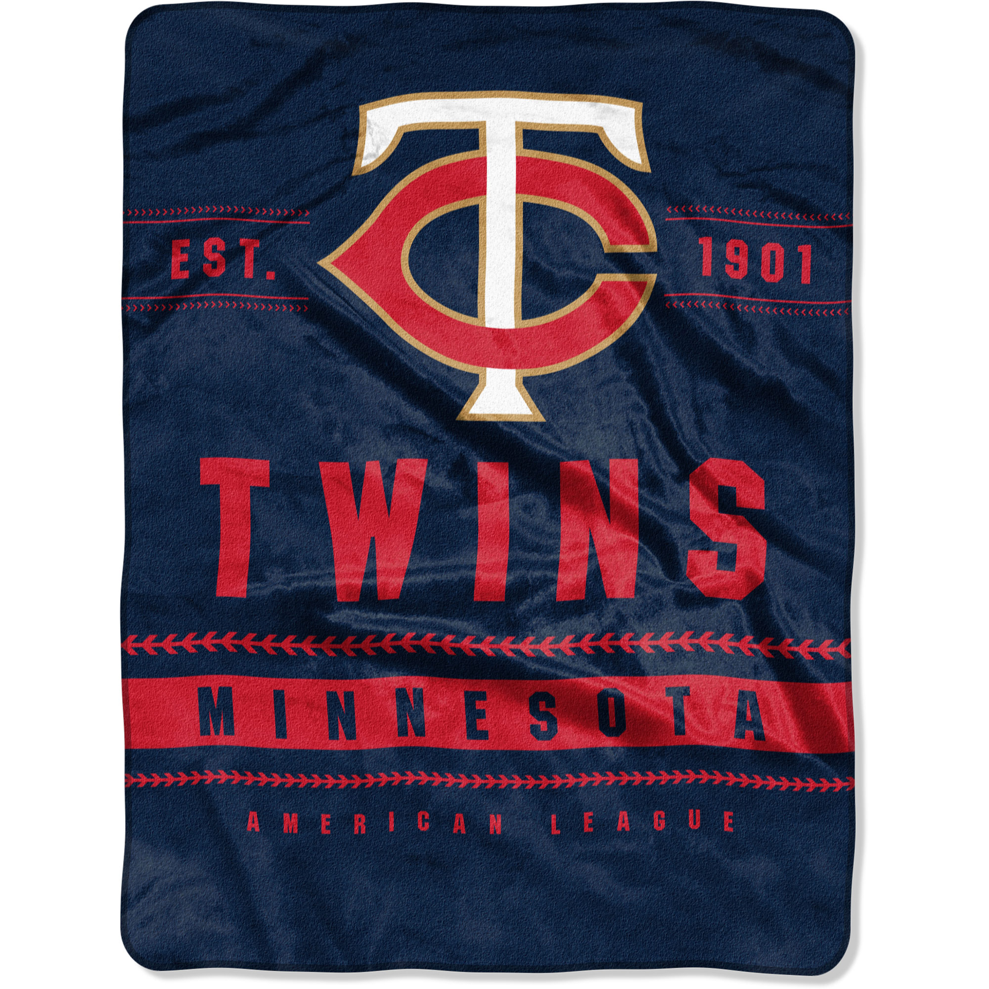 "Minnesota Twins The Northwest Company 60"" x 80"" Backstop Silk Touch Throw Blanket - No Size"