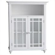 Elegant Home Fashions Neal 2-Door Floor Cabinet in White