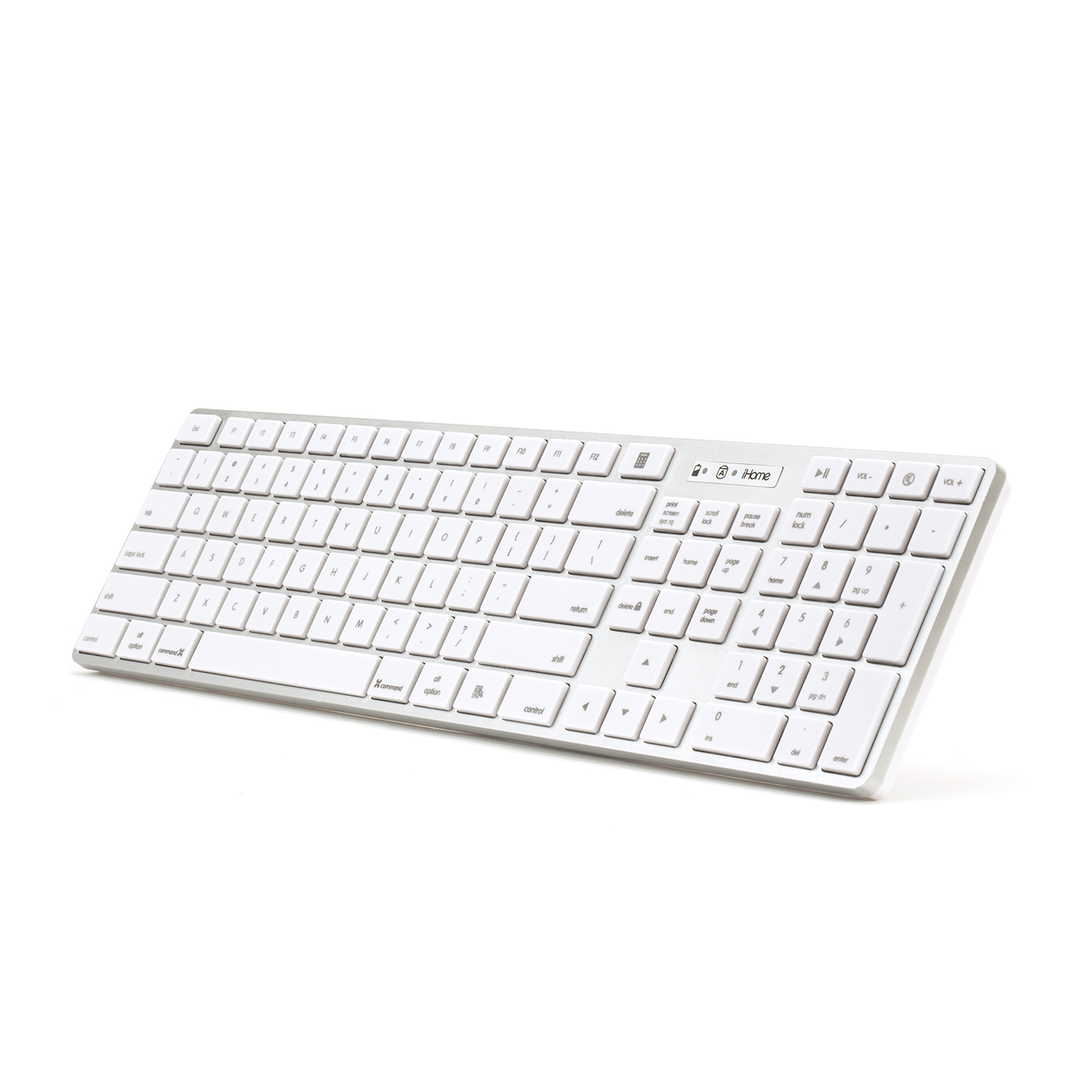 iHome | IMAC Wireless KB with 2.4G Nano Receiver (Silver)