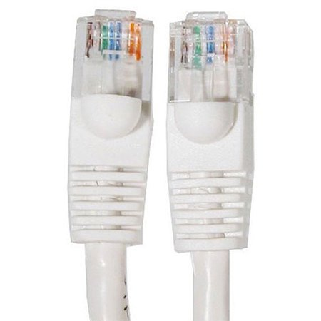 10 ft Cat5e RJ45 Ethernet Network Cable White 10