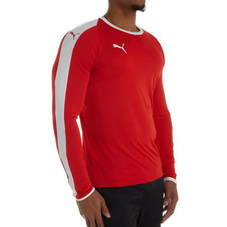 Men's Puma 703419 LIGA Core Long Sleeve Performance Jersey T-Shirt