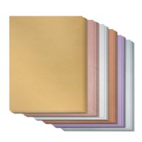 96-Pack Metallic Paper, Shimmer Cardstock Assorted Papers, Double Sided Laser Printer Compatible Printable for Weddings Bridal Shower Birthday, Wrapping, Craft Use, Letter Size Sheets, 8.5 x 11 Inches