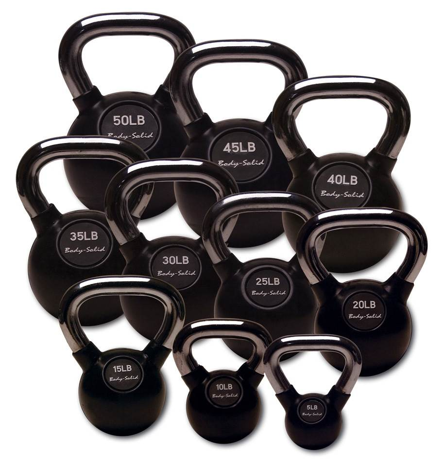 Rubberized Kettle Bell Set