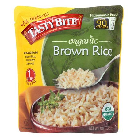 Tasty Bites Organic Brown Rice 8.8 oz Pouches - Pack of 6