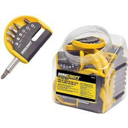 maxcraft 7 pc pocket screwdriver bit set 60510 multi colored. Black Bedroom Furniture Sets. Home Design Ideas