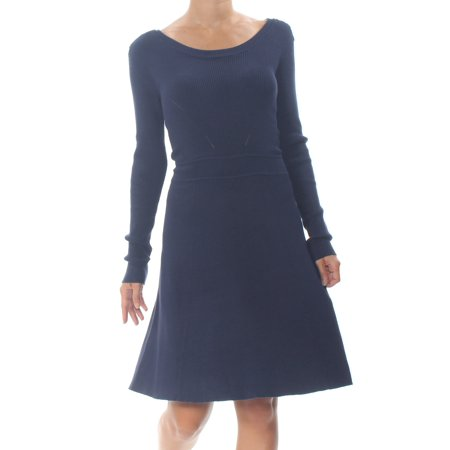 Alfani NEW Blue White Womens Size Medium M Halter Floral Tunic Blouse