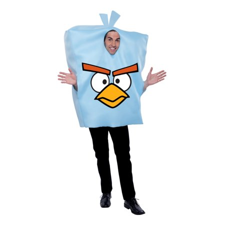 Angry Birds Space Ice Adult Halloween Costume - One Size](Halloween Big Bird Costume)