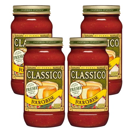 (4 Pack) Classico Four Cheese Pasta Sauce, 24 oz Jar