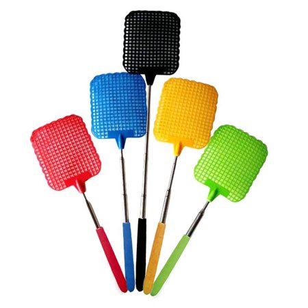 Stainless Steel Retractable Bug Mosquito Insect Fly Killer Swatter Bat Racket Flapper Flyflap Flytrap Catcher