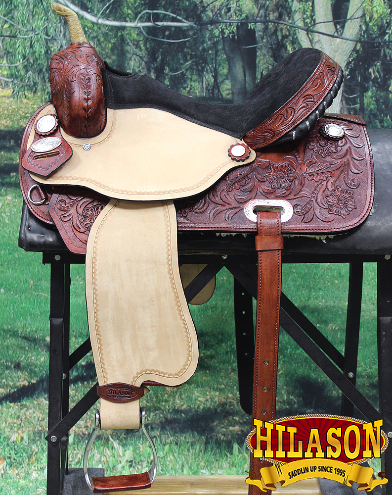 14'' HILASON WESTERN FLEX TREE BARREL RACING TRAIL RIDING HORSE SADDLE by HILASON