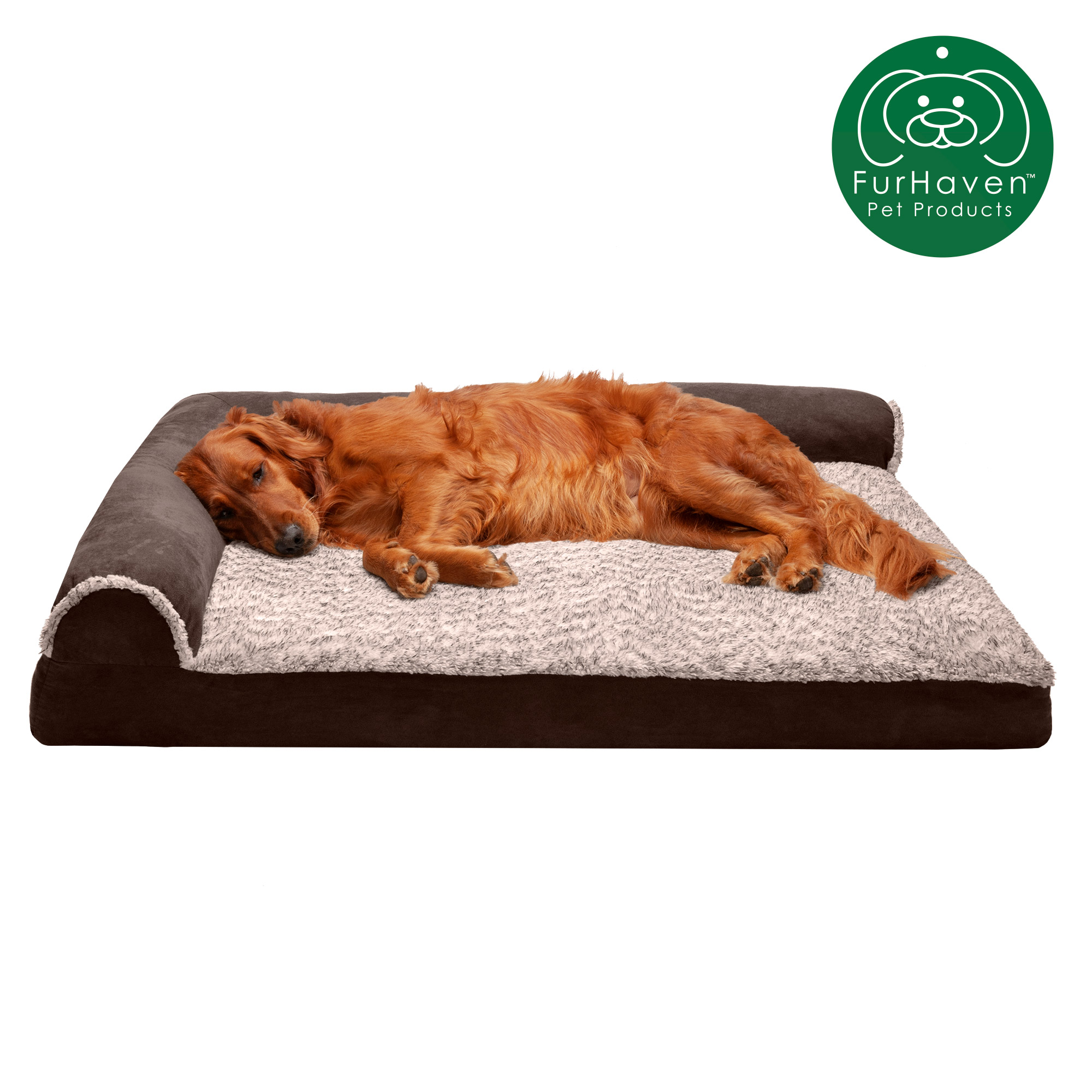Light Green Faux Suede Dog Bed sizes available