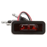 36 Series, Dual-Function, Flex-Lite, LED, Light, Rectangular, Red, 3 Diode, Black, 12V