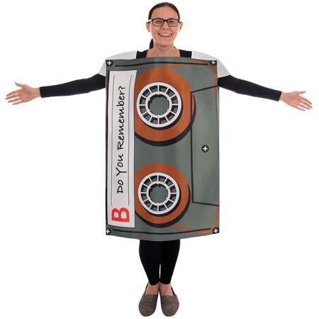 Boo! Inc. Cassette Mixtape Halloween Costume| Classic, Funny Adult, One-Size Unisex](Funny Halloween Cocktails)