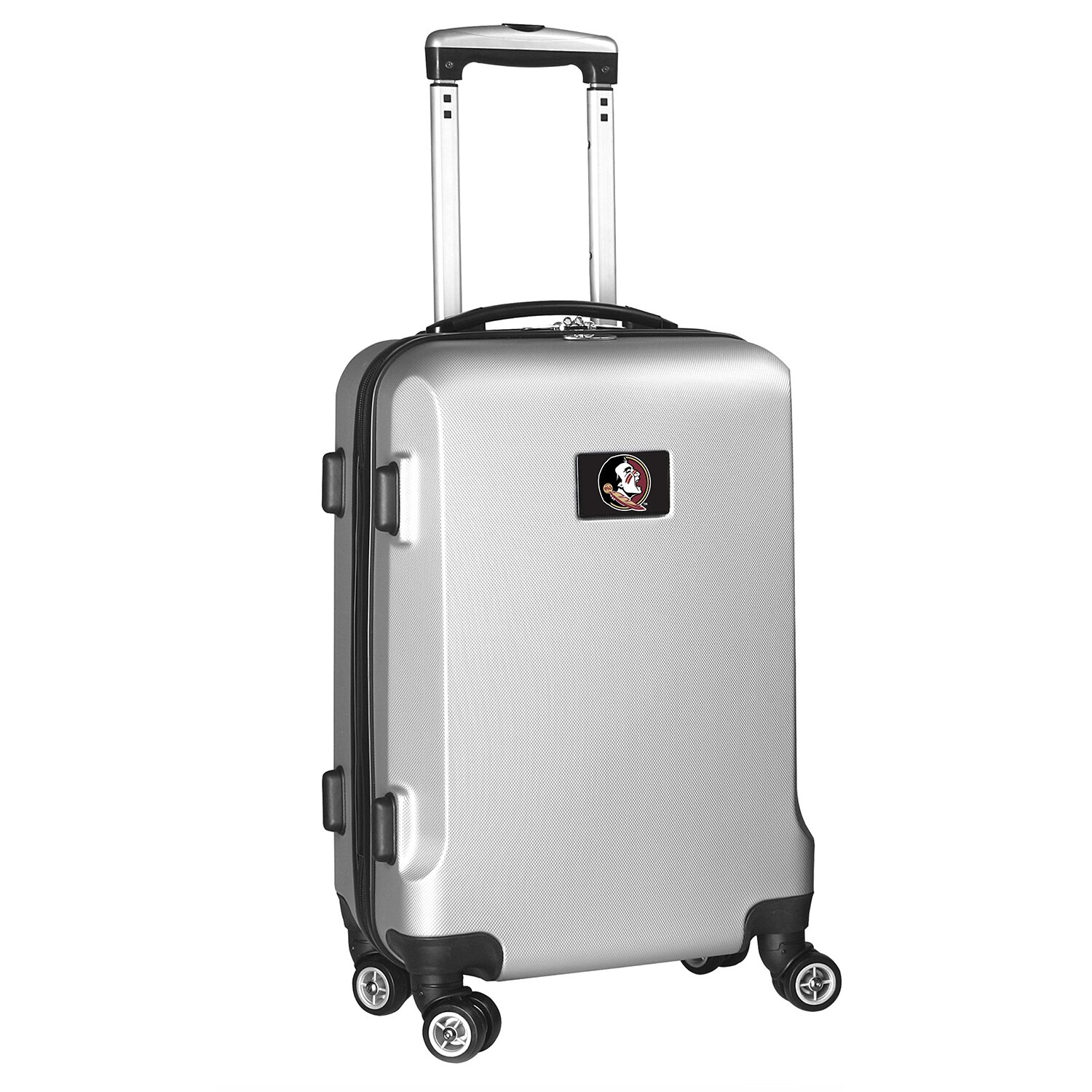 """Florida State Seminoles 21"""" 8-Wheel Hardcase Spinner Carry-On - Silver"""