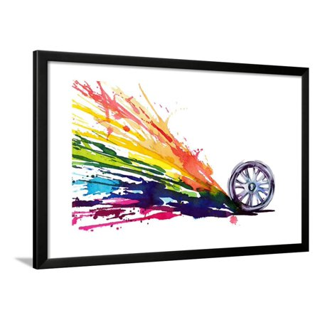 Wheel Motion Framed Print Wall Art By okalinichenko - Walmart.com